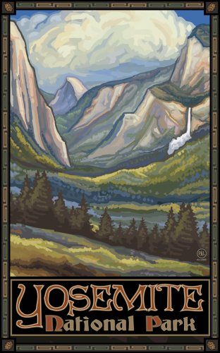 "Northwest Art Mall 11"" x 17"" Poster Yosemite Valley by Paul A. Lanquist"