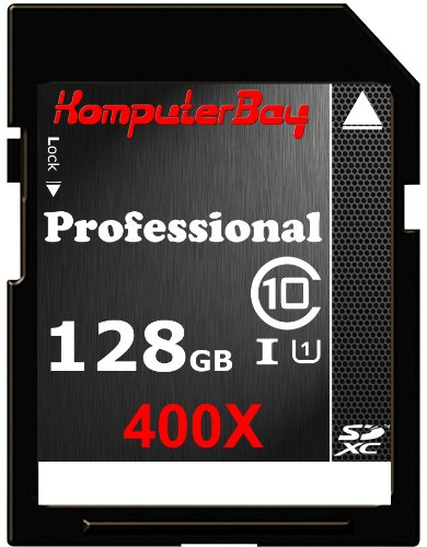 Komputerbay 128GB SDXC Secure Digital Extended Capacity Speed Class 10 400X UHS-I Ultra High Speed Flash Memory Card 45MB/s Write 60MB/s Read 128 GB