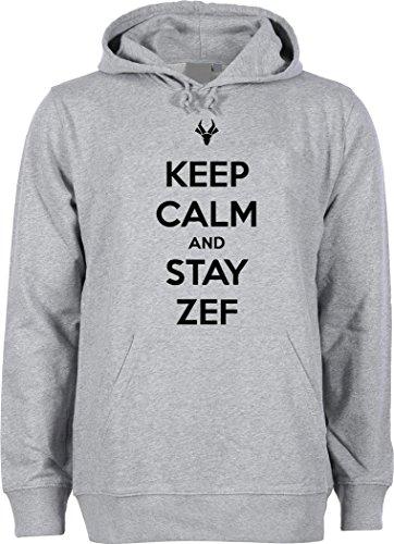 Keep calm and stay Zef Unisex felpa con cappuccio Grau xxl