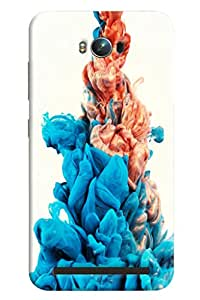 Blue Throat Ash Smoke Colored Effect Printed Designer Back Cover/ Case For Asus Zenfone Max