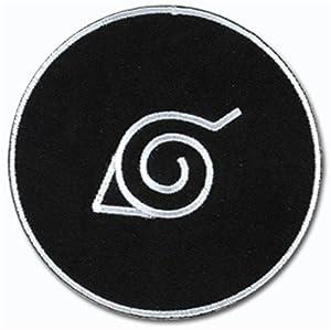 Amazon.com: Naruto Konoha: (Leaf Village) Logo Black Anime Patch