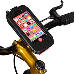 BikeConsole iPhone 5C Waterproof Shock-Protected Bicycle Holder Mount (Pink)