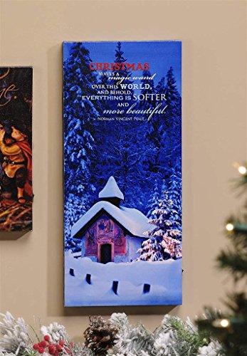 Christmas Led Lighted Canvas Wall Print - Christmas Waves A Magic Wand...