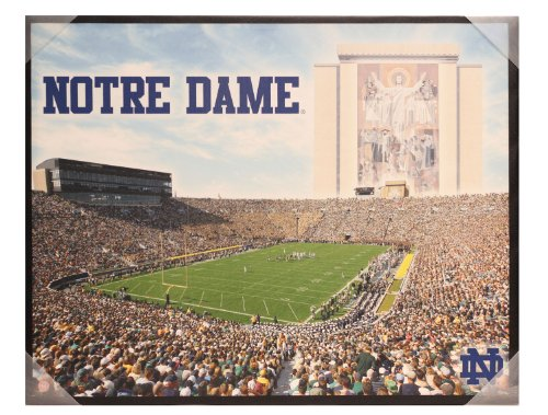 Notre dame fighting irish glory 28 x 22 canvas wall art for Notre dame home decor