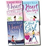 I Heart Collection Lindsey Kelk 4 Books Set (About a Girl, I Heart Hollywood, I Heart Paris, I Heart New York) Lindsey Kelk