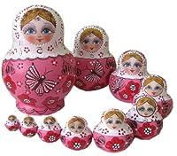 マトリョーシカ人形 10個組 置物 ロシア民芸 蝶 M007