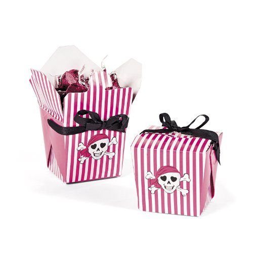 Pink Pirate Girl Takeout Boxes (1 dz)