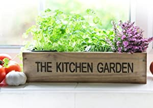 Kitchen Herb Garden Kit Windowsill Window Box Planter with Seeds: Amazon.co.uk: Garden \u0026 Outdoors