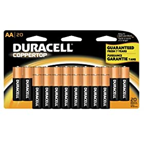 20-Count Duracell Coppertop Batteries: AAA for $6.87