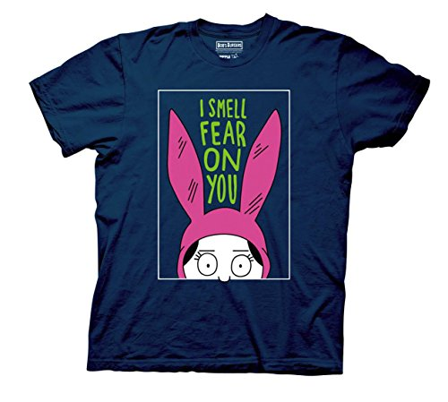 Bob's Burgers Louise I Smell The Fear On You T-Shirt (X-Large, Navy Blue)