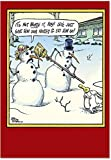 B5853 Box Set of 12 Not Worth It Hilarious Christmas Greeting Cards with Envelopes