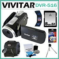 Vivitar DVR-516 Digital Camcorder with 1.5-inch LCD + 8GB Accessory Kit from Vivitar