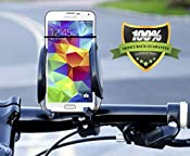 Amazon.com: Onyx EasyGrip Cell Phone Bike Mount - Attaches to Handle Bar Securely - Universal Smartphone Holder for iPhone 6 Plus, iPhone 5, Samsung Galaxy S4 /S5, Nokia Lumia, LG and other models upto 4 Inches -: Cell Phones & Accessories