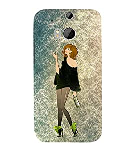 Party Fun Girl 3D Hard Polycarbonate Designer Back Case Cover for HTC One M8 :: HTC M8 :: HTC One M 8