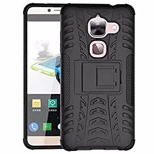 Celson Back Cover for LeEco Le Max 2 Back Cover Hybrid Kick Stand Case – Black