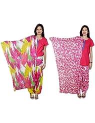 Indistar Women's Cotton Patiala Salwar With Dupatta Combo (Pack Of 2 Salwar With Dupatta) - B01HRKA3ZC