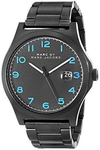 Marc Jacobs Homme 43mm Noir Plaqué Ion Acier Inoxydable Bracelet Montre MBM5059