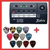 Stimmgerät für E-Gitarre und Bass + 12 x Plektrum kostenlos dazu
