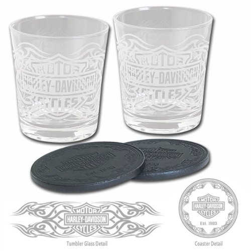 Harley-Davidson Tribal Bar & Shield Tumbler Set