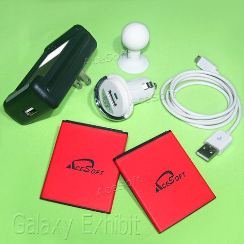 2x 1800mAh Spare Battery Travel Dock Wall Charger