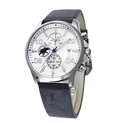 HUNTING WORLD ハンティングワールド 腕時計 メンズ クラッシックマジック ホワイト HW406NV