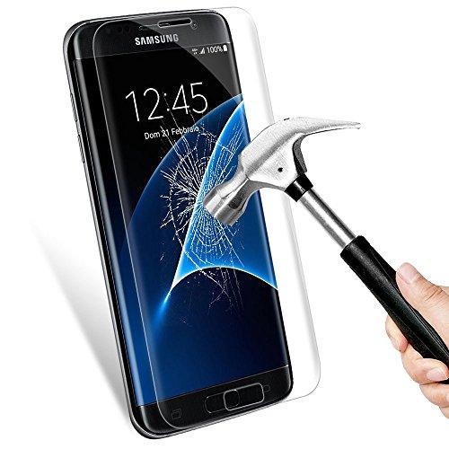 Protector de Pantalla Samsung Galaxy S7 Edge,Mture Galaxy S7 Edge Cristal Vidrio Templado 3D Full Coverage Protector para Galaxy S7 Edge Transparente 1Pack