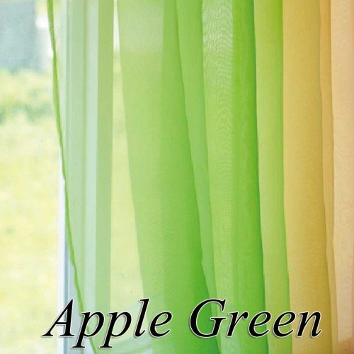 Green Curtains apple green curtains : Buy Rc Homes Voile sheer curtain fabric Apple Green Online at Low ...