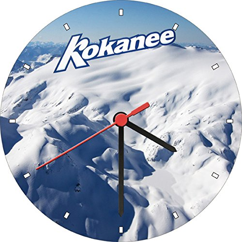 kokanee-glacier-fresh-beer-snow-bar-wall-clock