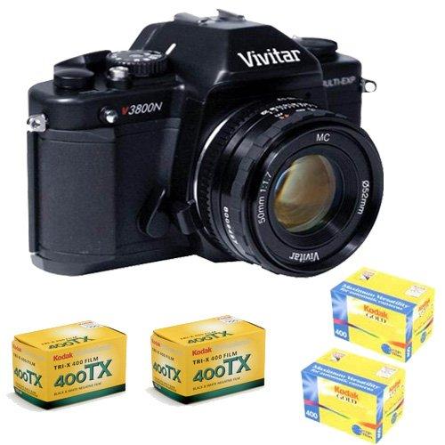 Vivitar V3800N 35mm Manual Focus Camera Kit