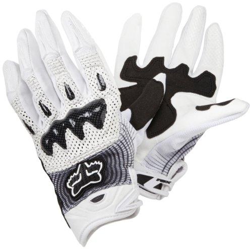 Fox Racing Bomber Vortex Men's Off-Road/Dirt Bike Motorcycle Gloves - White/Black / Large
