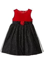 Good Lad Little Girls' Sparkle Mesh Dress