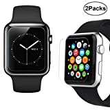 42mm Apple Watch Screen Protector – iXCC 0.3mm [2 Pack] Tempered Glass Screen Protector, Anti-bubble, Scratch Resistant [Only Covers the Flat Area] Reviews