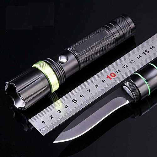Multifunction Cree Led Tactical Flashlight With Survival Camping Hunting Hiking Knife Window Break Life Hammer