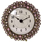 Beaded Pewter Table Clock