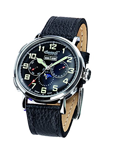 Ingersoll Unisex Automatic Watch with Black Dial Analogue Display and Brown Leather Strap IN1917SBK