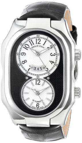 Philip-Stein-Mens-12A-BW-AB-Prestige-Automatic-Black-Alligator-Strap-Watch