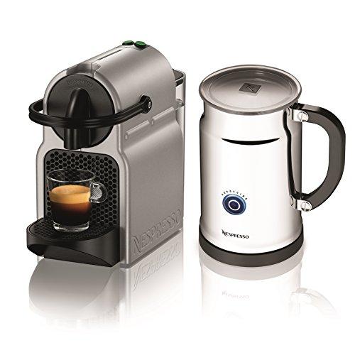 Nespresso A+D40-US-SI-NE Inissia C40 Silver Bundle, Silver (Nespresso Machine Bundle compare prices)
