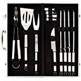Flamen 13-piece BBQ Set with Aluminum Case