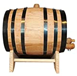Engraved Oak Whiskey or Wine Barrel - 3 Liter - Custom Personalized for Free with Name and Initial