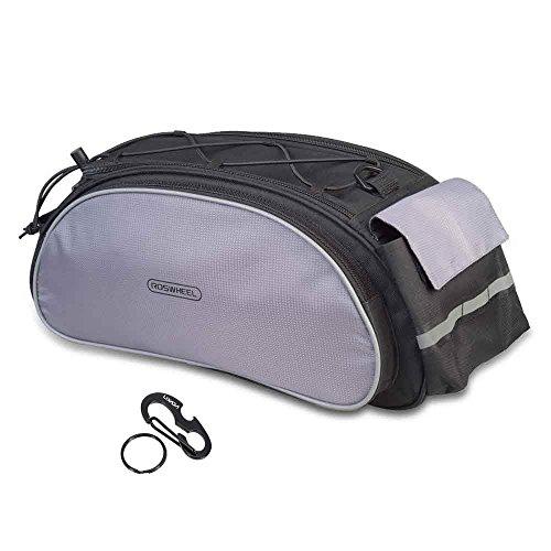 Lixada Radfahren Fahrrad-Rahmen-Amassment Gepäckträger Sitz Multifunktionale Tasche (schwarz)