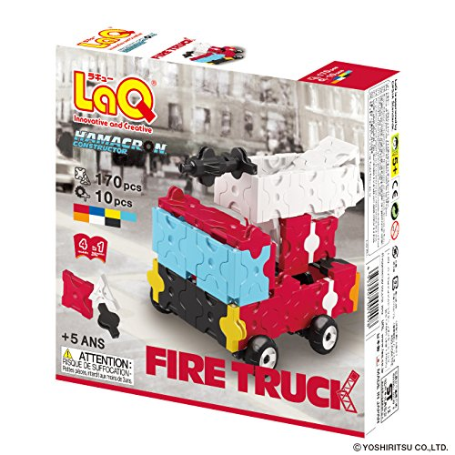 LaQ Hamacron Constructor 4 Fire Truck Toy Model Building Kits