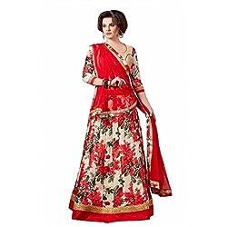 Mukta Mishree Exports Designer Printed Unstitched Lengha MME-1105