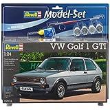 Revell 67072 - Modellbausatz inklusiv Zubehör, Volkswagen Golf 1 GTI im Maßstab 1:24