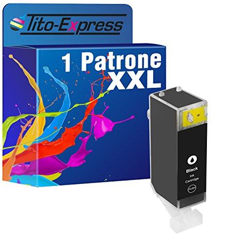 PlatinumSerie® 1 Tintenpatrone Tito-Platinum-Serie kompatibel für Canon PGI-520 Black, 24 ml XL-Tinteninhalt mit Chip und Füllstandsanzeige Z.B. kompatibel für Canon Pixma IP 3600,Canon Pixma MP 990,Canon Pixma MP 630,Canon Pixma MP 620,Canon Pixma MP 540,Canon Pixma IP 4600 X,Canon Pixma MX 860,Canon Pixma MP 560,Canon Pixma MX 870,Canon Pixma IP 4700,Canon Pixma MP 640,Canon Pixma MP 550,Canon Pixma MP 640 R,Canon Pixma MP 980,Canon Pixma IP 4600