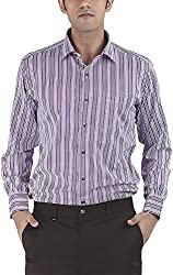 Silkina Men's Regular Fit Shirt (FSUPX19F, 38)