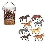 Battat Terra Horses in Tube Playset