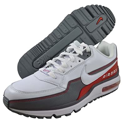 Nike Air Max LTD - White / White-Cool Grey-Sport Red, 8 D US
