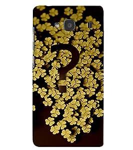 PrintVisa Modern Art Flower Question 3D Hard Polycarbonate Designer Back Case Cover for Xiaomi Redmi 2S