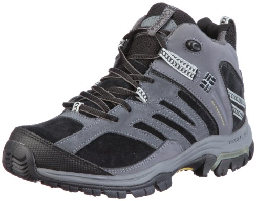 Columbia Men's Shasta Ridge Mid Omni Tech Lea Black, Antique Moss Hiking Shoe BM3709 8 UK