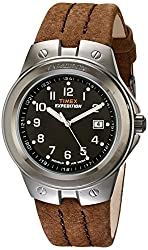Timex Men's T49631 Expedition Watch with Brown Leather Band by Timex